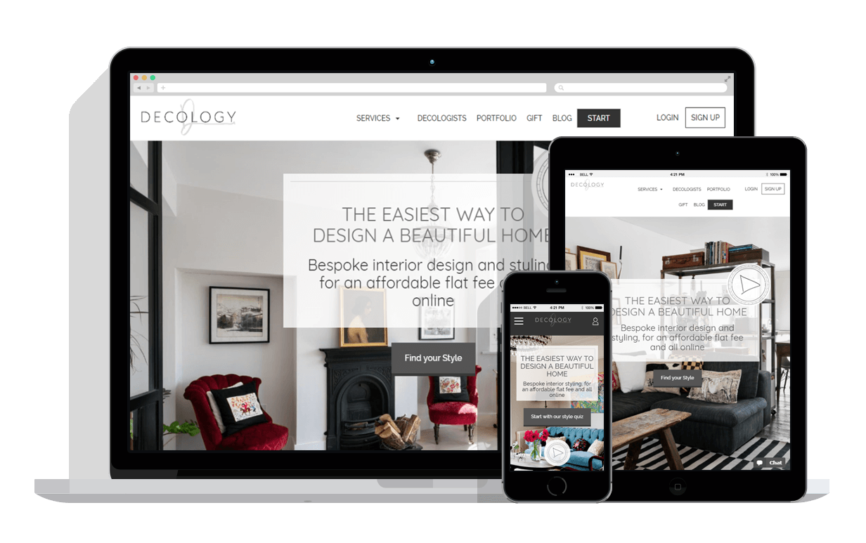 Decology interior design marketplace ace digital london for London interior designers directory